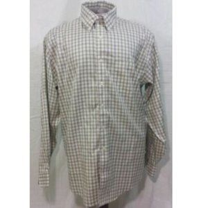 Brooks Brothers Green Plaid Button Down Shirt L
